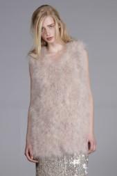 Line & Dot Fur Vest