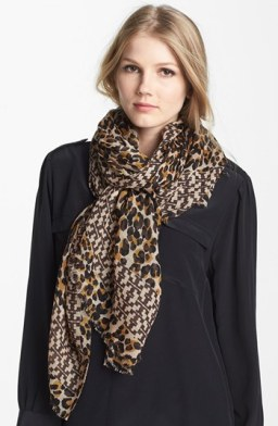 Tory Burch 'Panthra' Wool Scarf