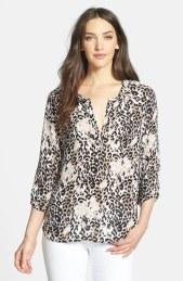 Leopard Silk Shirt