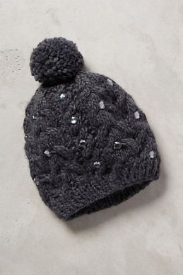 Anthropologie Jeweled Beanie