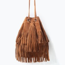 Zara Fringe Bucket Bag